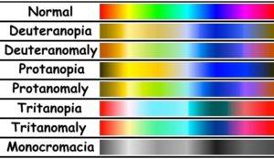 Colour blindness chart